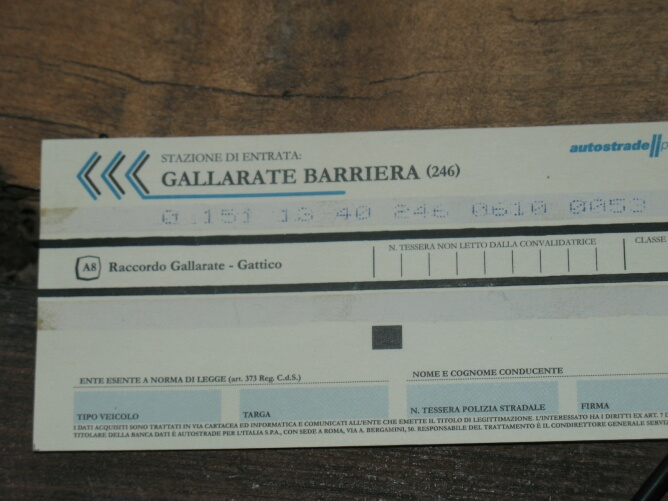 ticket autostrada- ( 1)