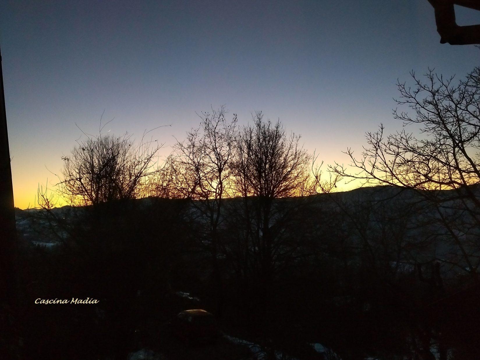 Sonnenuntergang In Der Alta Langa